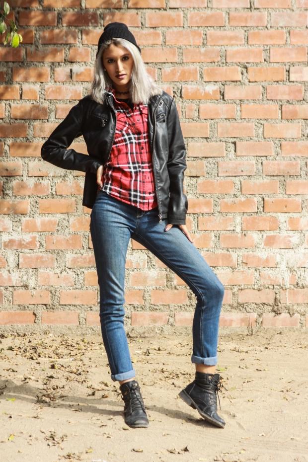 Blue Jeans Punk Rock Look De Lilac-19