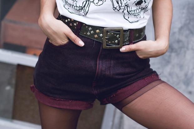 Borgoña Grunge DeLilac Vintage Short