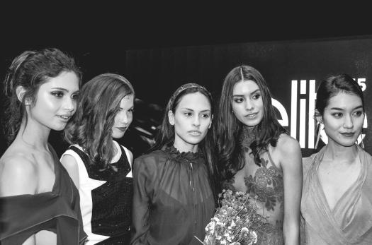 Paula Montes, Nicole Dileo, Antonella Aguilar, Marylin Saldaña, Emiko Tokuda Elite Model Look Peru 2015