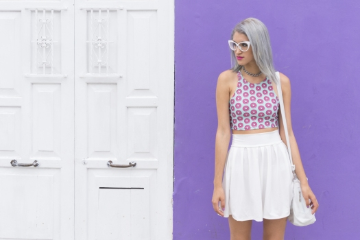 Holographic shoes and tennis skirt Tienda Wicked - DeLilac (2)