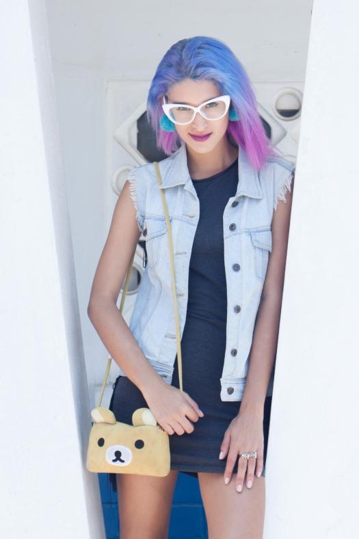 Grunge dress and rilakkuma purse