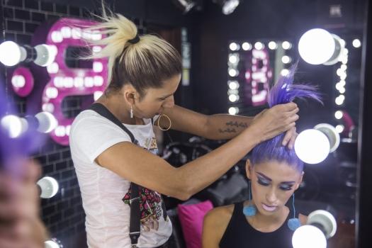 Cabello Morado + Cómo me maquillo BLUSH Hair Make Up (10)