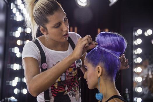 Cabello Morado + Cómo me maquillo BLUSH Hair Make Up (12)