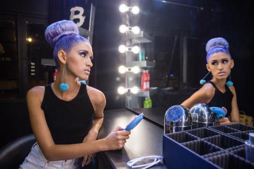 Cabello Morado + Cómo me maquillo BLUSH Hair Make Up (14)