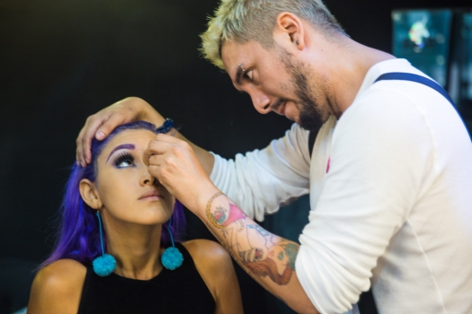 Cabello Morado + Cómo me maquillo BLUSH Hair Make Up (5)