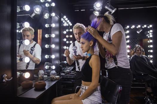 Cabello Morado + Cómo me maquillo BLUSH Hair Make Up (9)