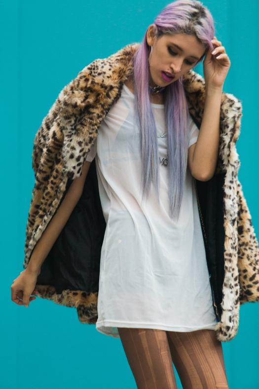 Leopard Faux Fur Coat Delilac  (10)