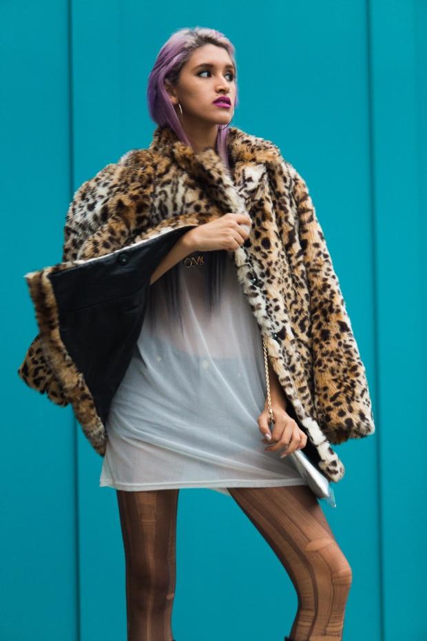 Leopard Faux Fur Coat Delilac  (13)