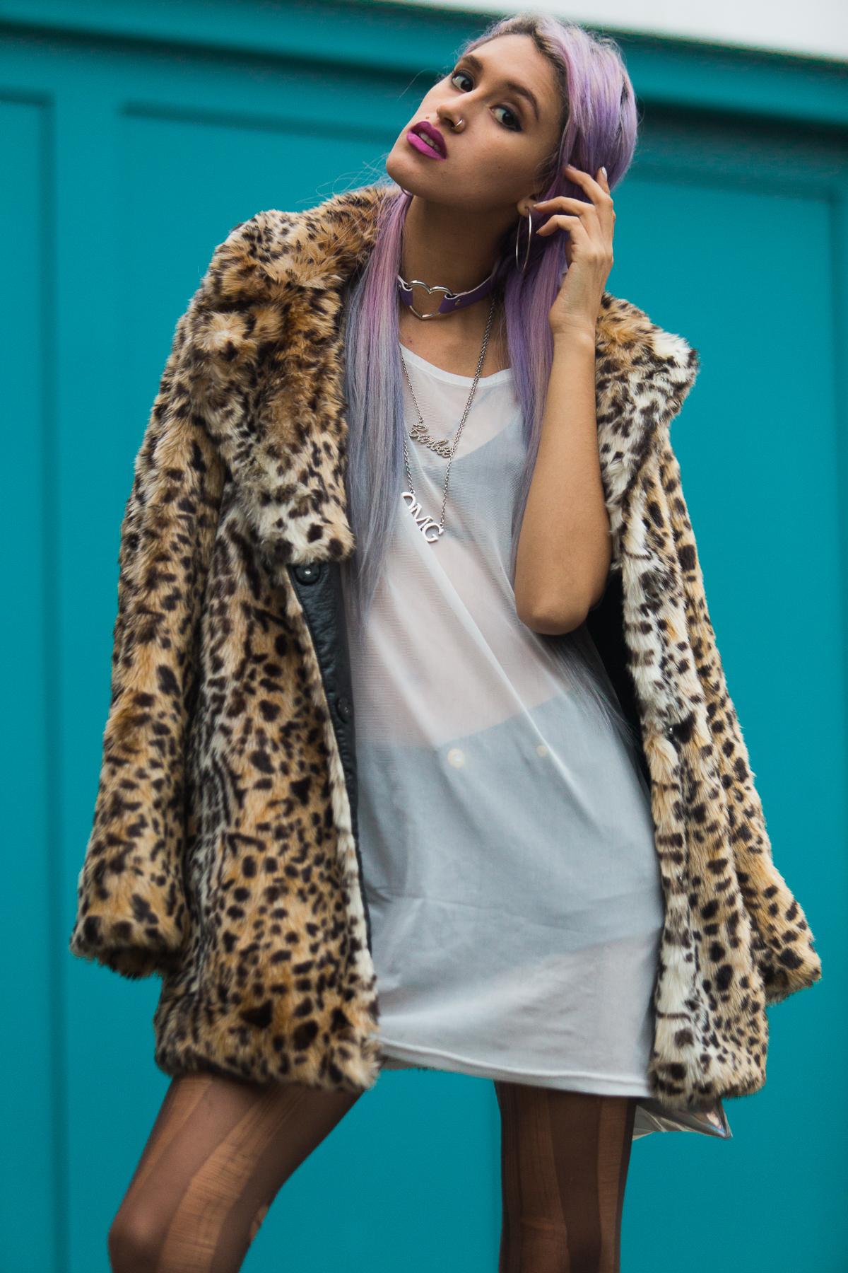 Leopard Faux Fur Coat Delilac  (3)