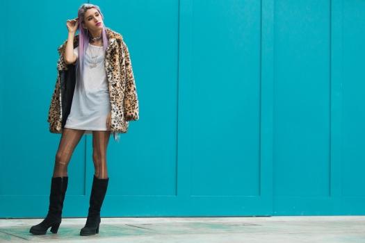 Leopard Faux Fur Coat Delilac  (5)