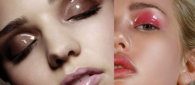 glossy lids makeup trend 2017