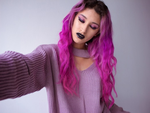 Cut Out Chunky Choker Sweater - Light Purple - zaful delilac blog (3)