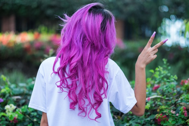 pink hair delilac