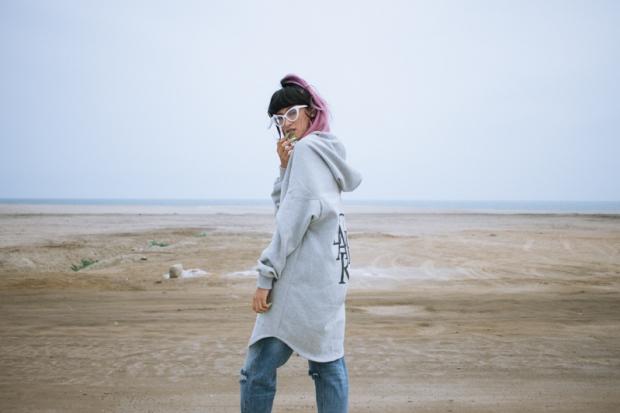 Oversized hoodie - gamarra look (1)