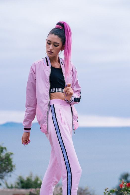 BLOCK COLOR Low Budget Studio - Pink sporty trend delilac (4)