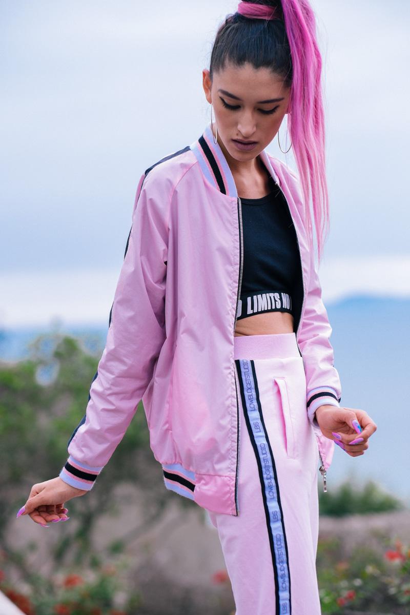 BLOCK COLOR Low Budget Studio - Pink sporty trend delilac (5)