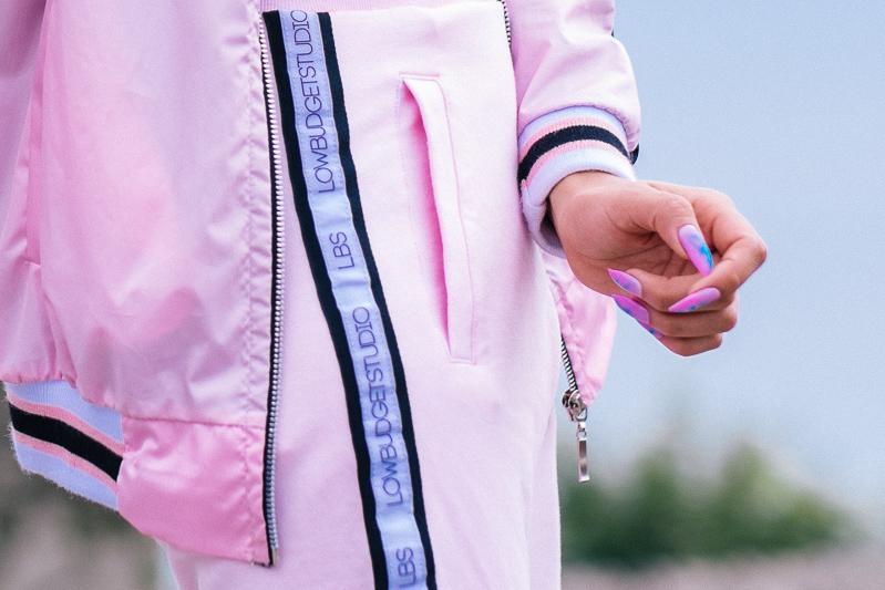 BLOCK COLOR Low Budget Studio - Pink sporty trend delilac (6)