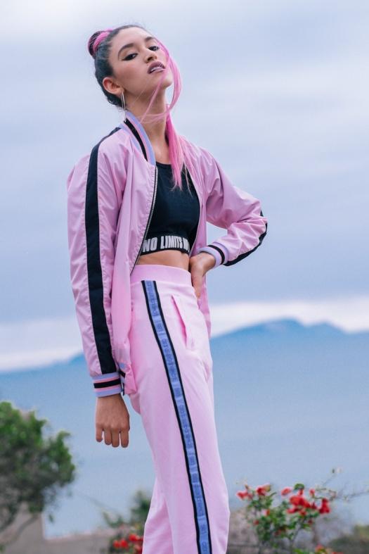 BLOCK COLOR Low Budget Studio - Pink sporty trend delilac (7)