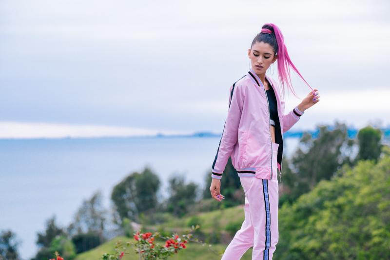 BLOCK COLOR Low Budget Studio - Pink sporty trend delilac (9)