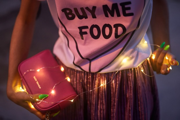 Buy Me Food Tee Tumblr - Tendencia metalicos + metalizados delilac (15)