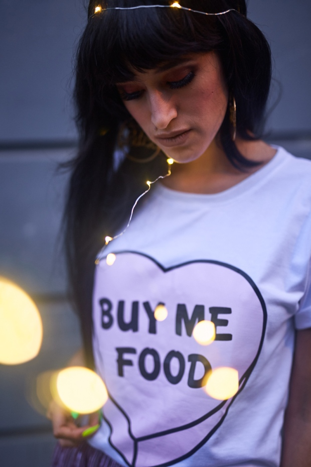 Buy Me Food Tee Tumblr - Tendencia metalicos + metalizados delilac (5)