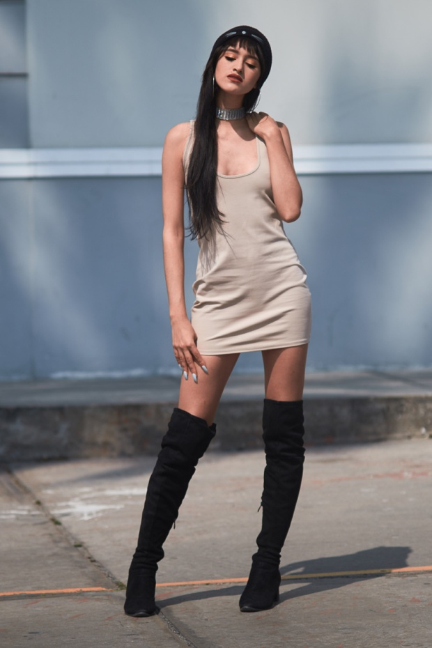 Vestido NUDE básico y 3 formas distinas de usarlo delilac (10)