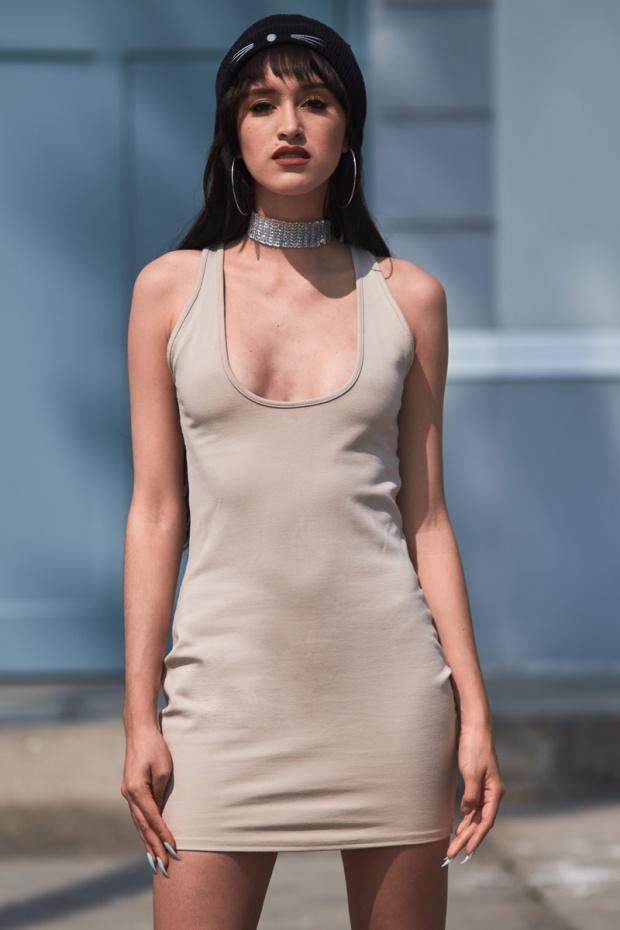 Vestido NUDE básico y 3 formas distinas de usarlo delilac (9)