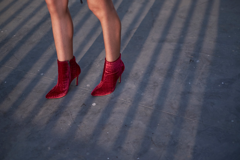 Bruno Ferrini Red Velvet Boots Delilac