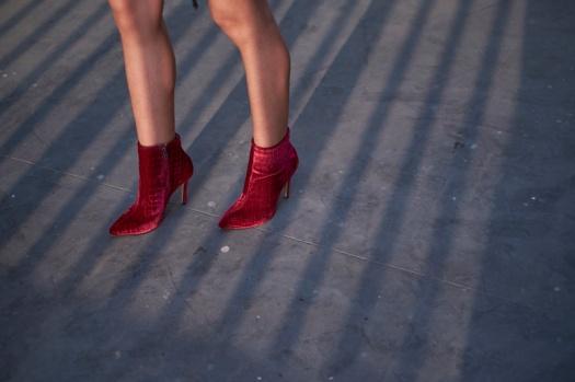 Bruno Ferrini Red Velvet Boots Delilac