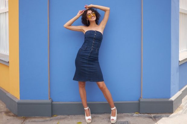 Denim dress zaful look delilac (2)