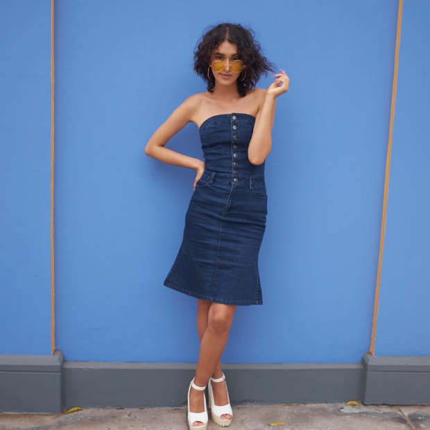 Denim dress zaful look delilac (3)