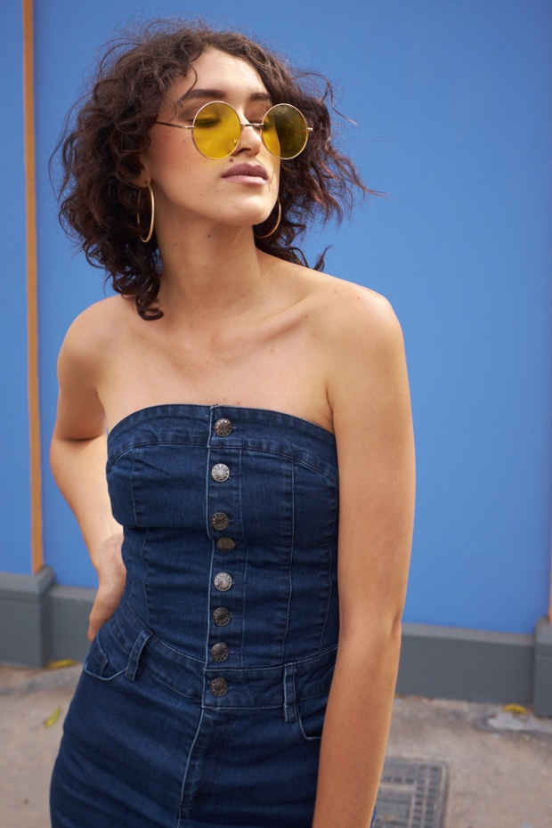 Denim dress zaful look delilac (4)