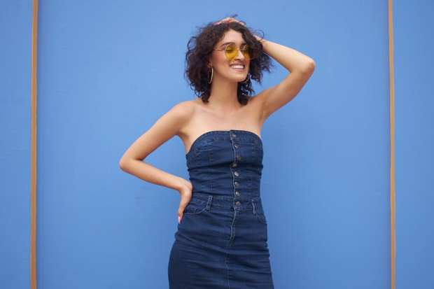 Denim dress zaful look delilac (7)