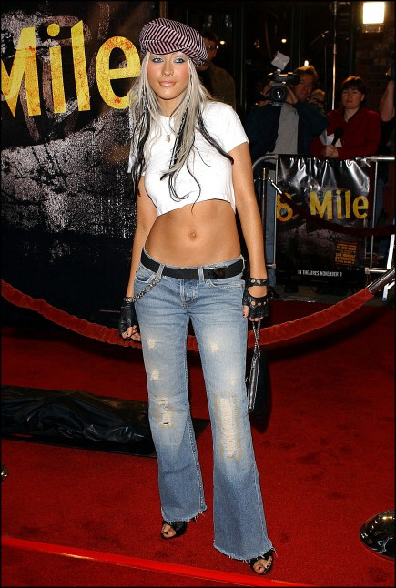 low rise jeans trend