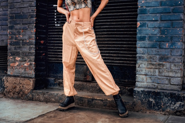 Soft ghetto look box braids yoins pants and snake tube top delilac andrea chavez (5)