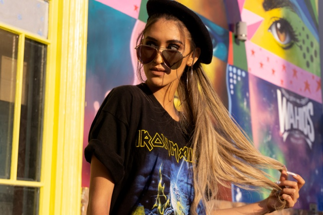 Delilac rock grunge iron maiden inspired look andrea chavez (13)