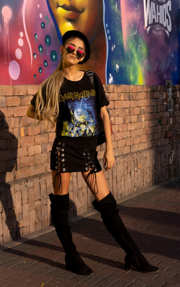 Delilac rock grunge iron maiden inspired look andrea chavez (17)
