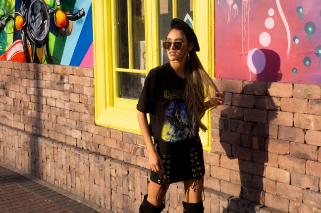 Delilac rock grunge iron maiden inspired look andrea chavez (7)