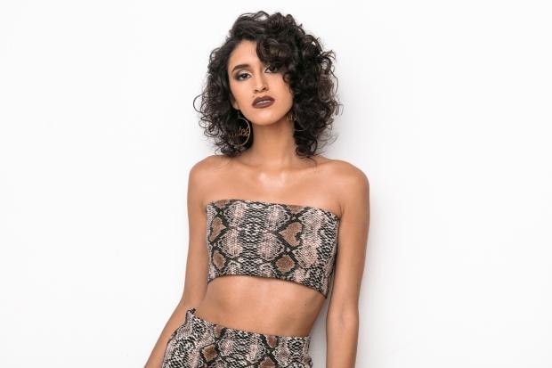 Snake animal print top and skirt delilac andrea yoins (2)