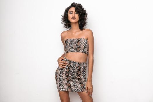 Snake animal print top and skirt delilac andrea yoins (6)