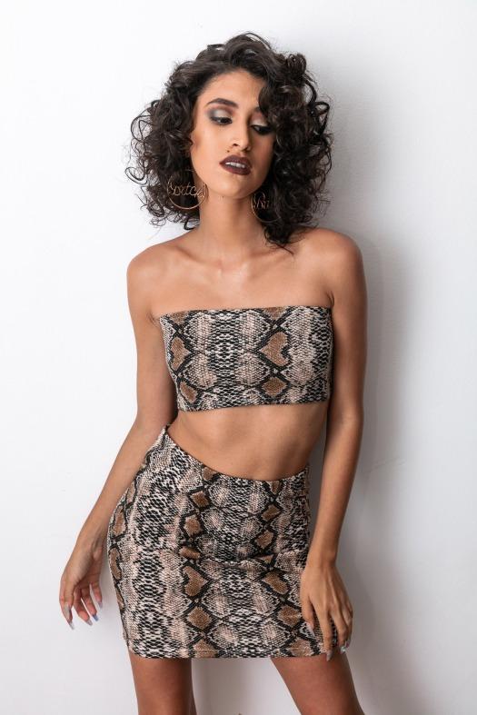 Snake animal print top and skirt delilac andrea yoins (9)