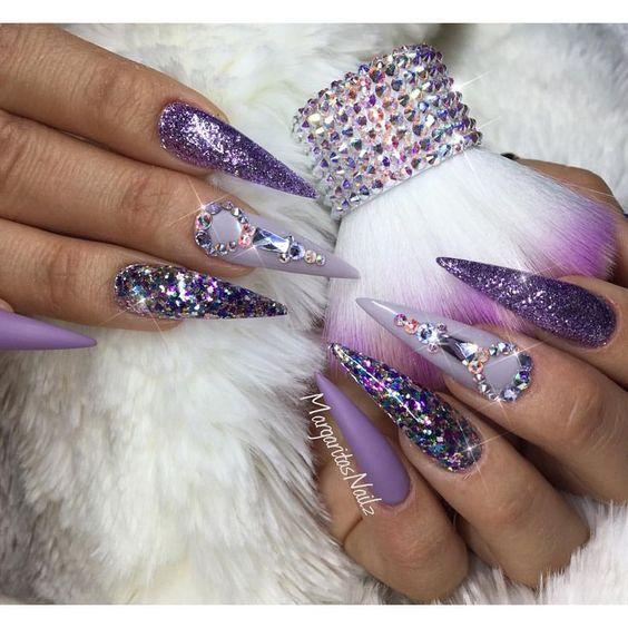 manicure inspo 2018 tendencias stiletto delilac (10)