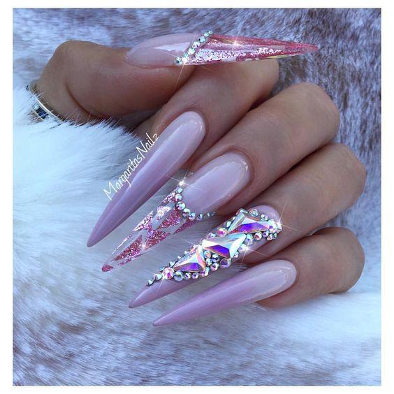 manicure inspo 2018 tendencias stiletto delilac (5)
