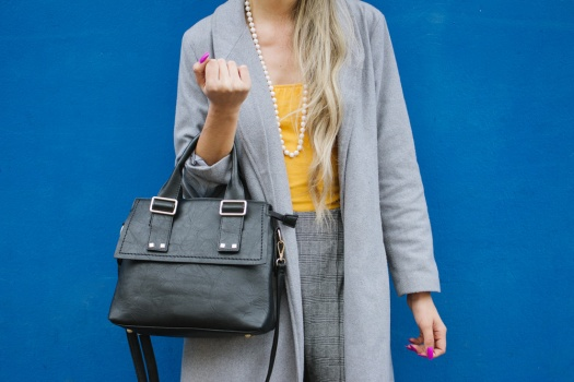 Grey coat and mustard winter outfit delilac (3)