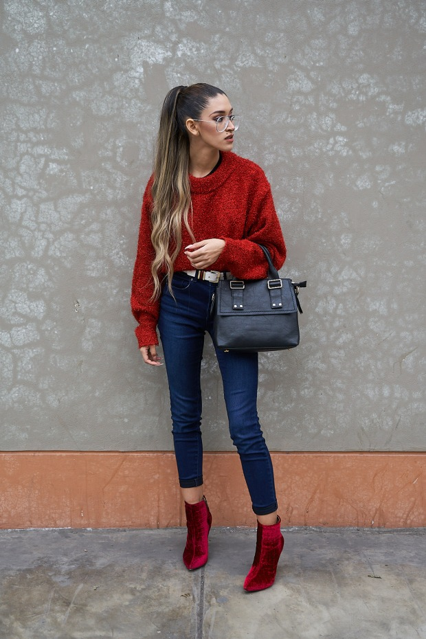 Lady in red winter 2018 fashion trends delilac (1)