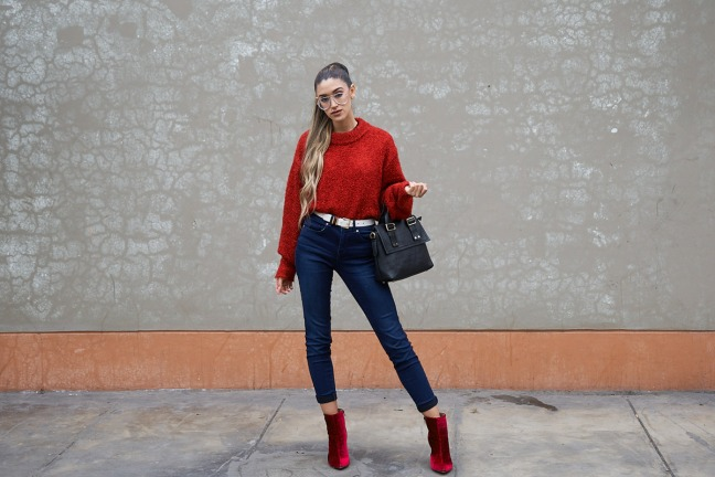 Lady in red winter 2018 fashion trends delilac (5)