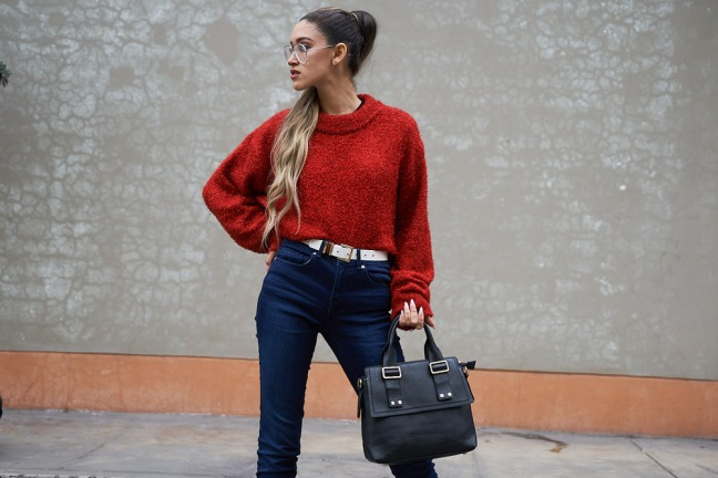 Lady in red winter 2018 fashion trends delilac (6)