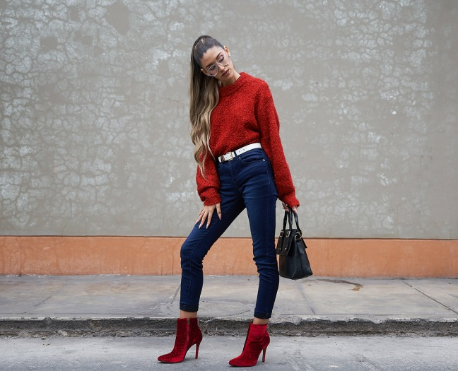 Lady in red winter 2018 fashion trends delilac (7)