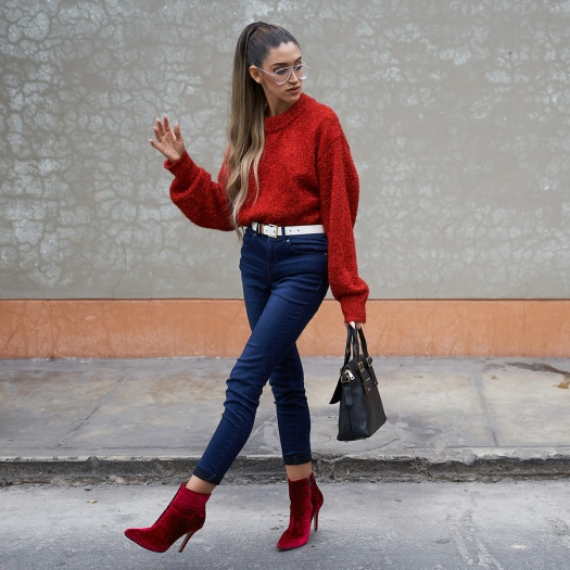 Lady in red winter 2018 fashion trends delilac (8)