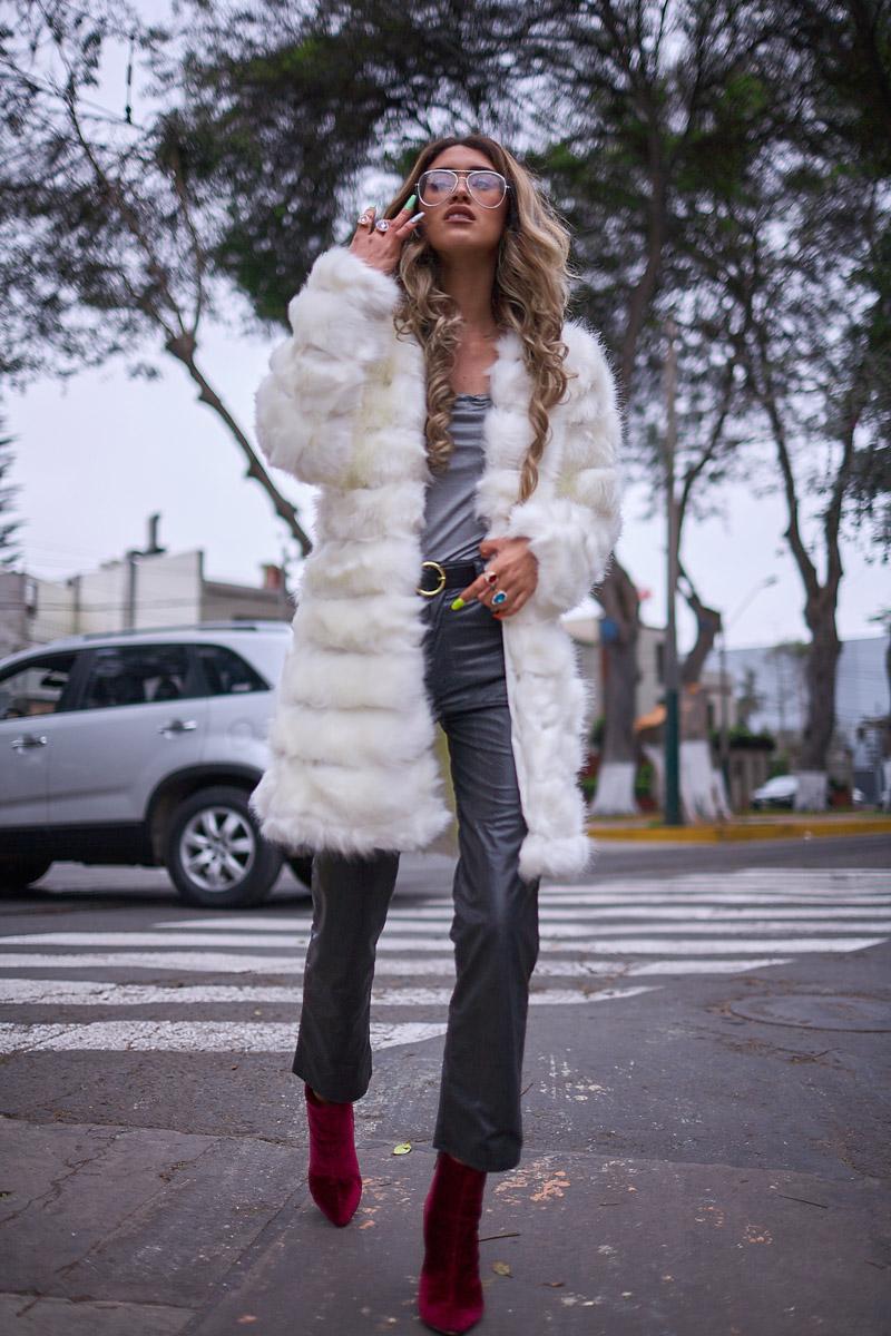 White faux fur coat yoins delilac andrea chavez look (1)